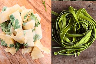 Laminated & Colored Pasta: Primavera