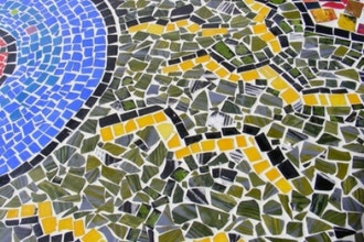 Sticky Situation: Glass Mosaic