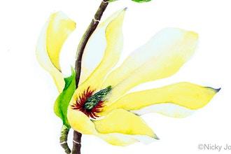 Magnolias in Watercolor Workshop
