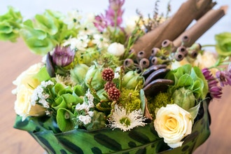 Woodland Centerpiece with Succulents