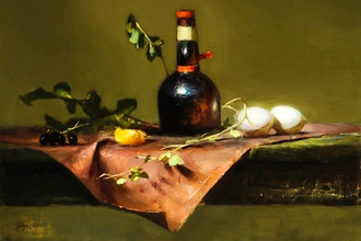 Still Life Painting in Oils