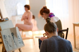 Valley Art Brunch: Paint or Draw Nude Female Model