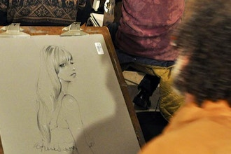 Drink & Draw Online - Costumed Model Drawing