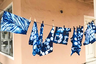 Shibori Dyeing with Indigo