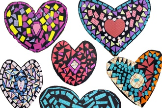 Mixed Media Hearts (Ages 5 - 11 yrs)