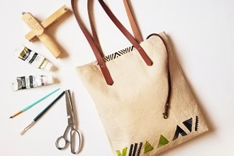 Make Your Own Canvas/Leather Tote Bag