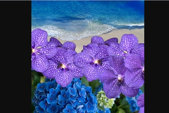 Virtual Floral Art: Maldive Blue