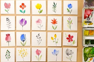Beginner's Watercolor Painting: How to Paint Flowers