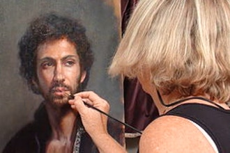 Portrait Painting with Live Model & Live Falcon