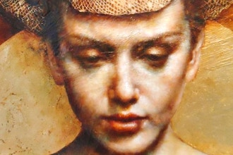 Gold Foil, Encaustic Live Painting Demo by Pam Hawkes