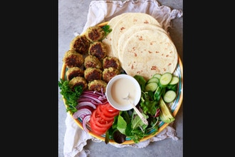 Falafel + Fresh Pita Bread