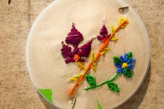 Handmade Holiday Workshop: Bead Embroidered Artwork