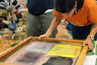 Screen Printing with Dyes