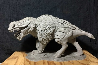 Fantasy Character Clay Sculpture