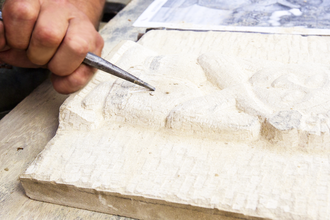 Stone Carving with Hammer & Chisel