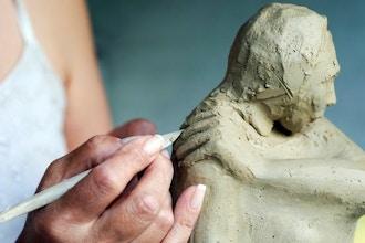 Monday Clay & Mixed Media Sculpture