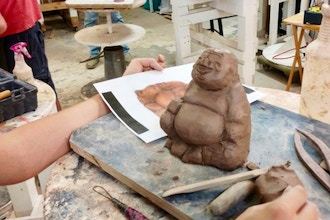 Clay and Mixed Media Sculpture