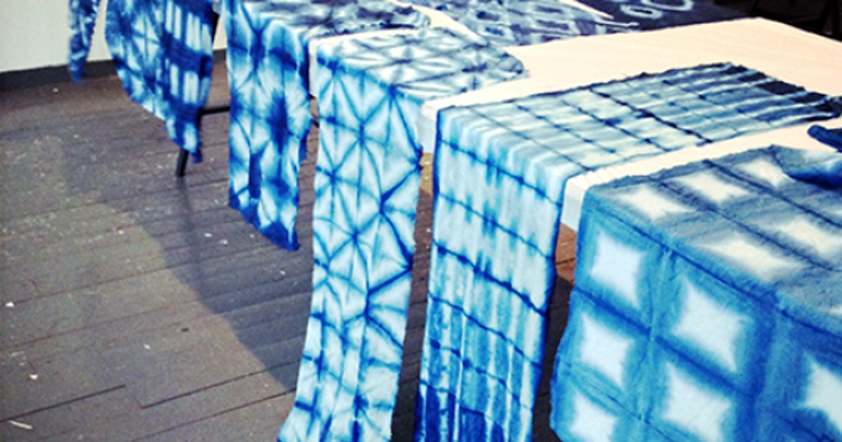 Indigo Tea Towels: 4 Shibori Techniques - Dye Classes New