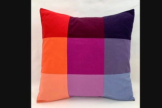 Virtual Workshop Patchwork Pillow