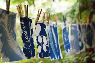 Cyanotype Printing with Crave Workshops