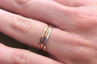 Gold & Silver Stacked Ring Workshop