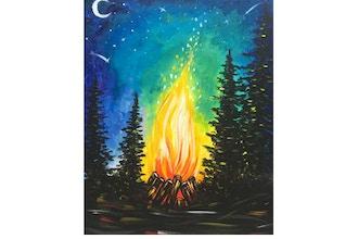 "Paint & Sip - ""Campfire"" (Ages 13+)"