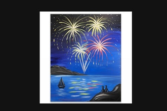 "Paint & Sip - ""Fireworks Celebration"" (Ages 13+)"