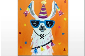 "Paint & Sip - ""Party Llama"" (Ages 7+)"