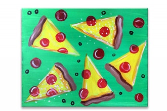"Paint & Sip - ""Pizza Party"" (Ages 7+)"