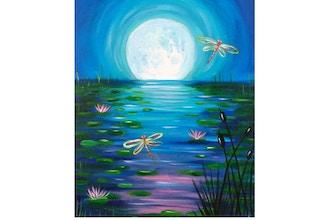 Twilight In Koi Pond >> Paint Sip Twilight Pond Painting Classes Los Angeles