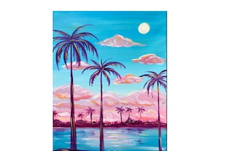 """Paint & Sip - """"Cotton Candy Skies"""""""