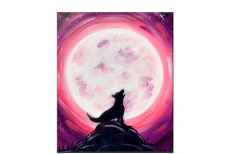"Paint & Sip - ""Howl at the Moon"""