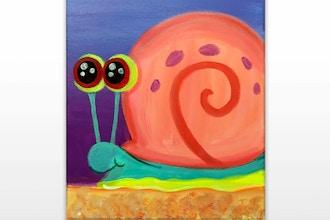 """Paint & Sip - """"Pet Snail"""" (Ages 7+)"""