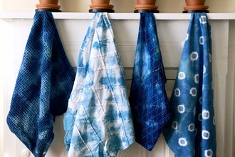 Shibori Indigo Tie Dye Online Workshop