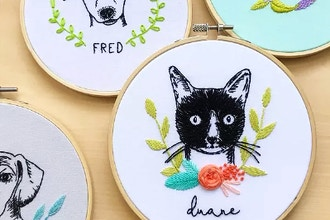 Pet Portrait Embroidery