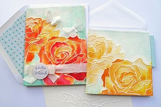 Hot Glue Watercolor Cards