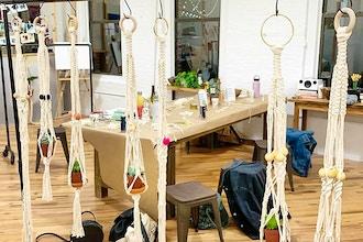 Macrame Plant Hanger in Dumbo Studio