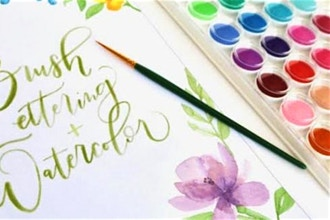 Watercolor Calligraphy Brush Lettering Live Online