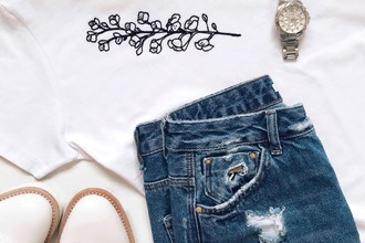 T-Shirt and Denim Embroidery