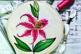 Watercolor Embroidery