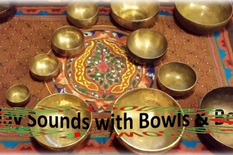 Crystal & Tibetan Singing Bowls with Bells
