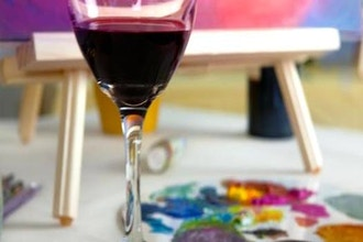 Adult Paint Night with Wine & Cheese