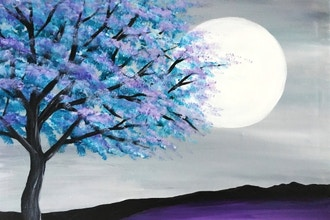 Virtual Paint Nite: Majestic Teal Tree (Ages 6+)