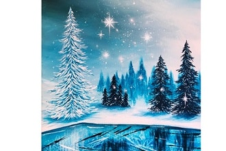 Virtual Paint Nite: Frozen Winter Lake II