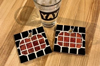 Make a Mosaic: Pumpkin Coasters