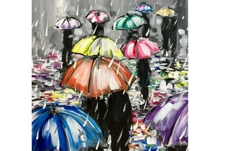 Virtual Paint Nite: Rainy Reflections