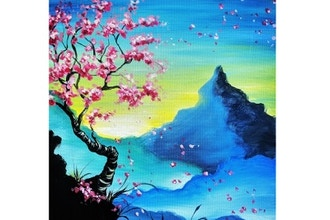Virtual Paint Nite: Serene Blossoms II (Ages 6+)