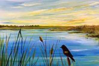 Paint Nite: Marshland Visitor