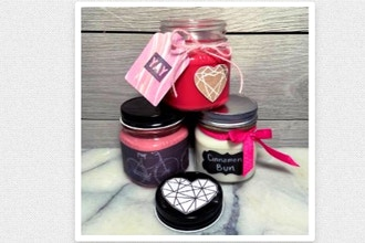 Candle Maker: Choose Your Scent: 3 Mason Jars