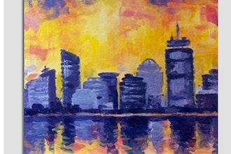Paint Nite: Abstract Boston Reflection